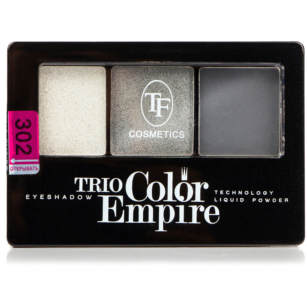 "Тени для век ""Trio Color Empire"" ТЕ-22-302C тон 302 Графит"