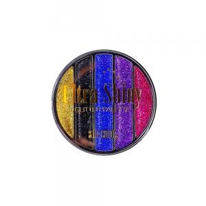 "Тени д/век ""Glitter"" 6748 Ultra Shiny тон 02 круглые 5-цв."