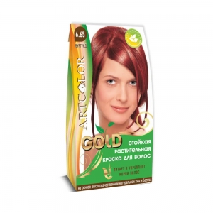 Раститительная краска для волос АртКолор Gold Бургунд, 25г