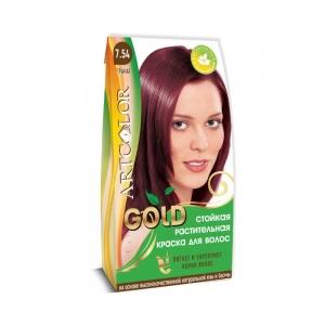 Раститительная краска для волос АртКолор Gold Гранат, 25гр