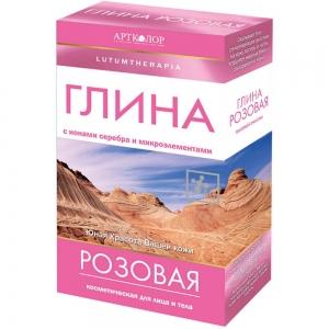 Глина банная косметическая розовая, 100гр