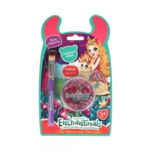 Гель-блестки д/волос и тела Розовый глиттер 15мл+кКисточка (блистер)