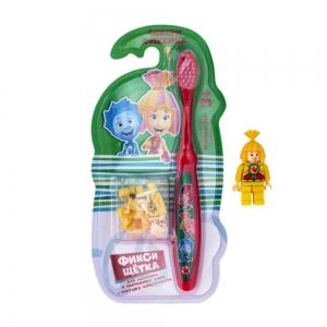Зубная щетка ФИКСИКИ с игрушкой- лего