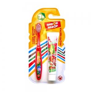 П.Н. Зубная щетка+Зубная паста гелевая со вкусом клубники