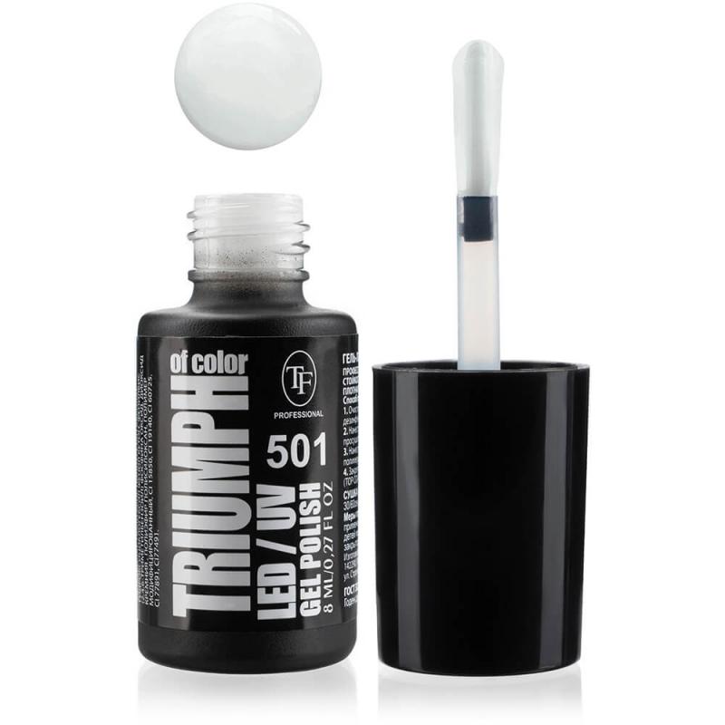 Гель-лак для ногтей LED/UV Triumph of Color тон 501, 8мл белый айсберг - фото товара