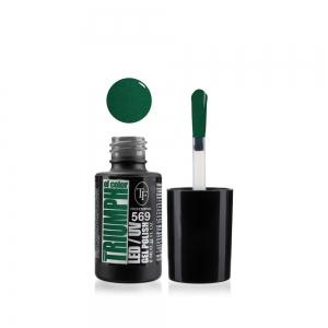 """Гель-лак для ногтей LED/UV """"Triumph of Color"""" тон 569, 8мл Глубокий зеленый"""