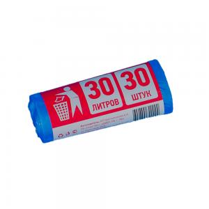 Мешки д/мусора 30л (30шт) синие в рулоне 6мкм