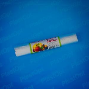 Пакеты пищевые 24х37см (100шт) прозр. в рулоне 7мкм