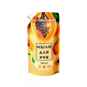 Жидкое мыло 900 мл Тропическая папайя дой-пак