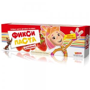 """Зубная паста ФИКСИКИ """"Клубника"""", 65г"""