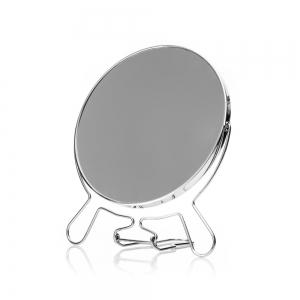 Зеркало настольное D17 круглое, в металлической оправе