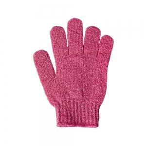 Мочалка синтетическая перчатка с узором для мытья и массажа 45087