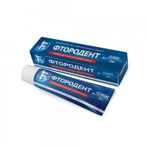 "Зубная паста ""Фтородент F"" Classic комплексный уход и защита от кариеса, 170г"