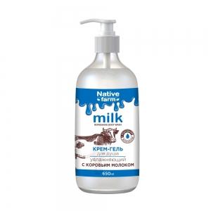 Крем-гель для душа Milk увлажняющий, с коровьим молоком, 650 мл