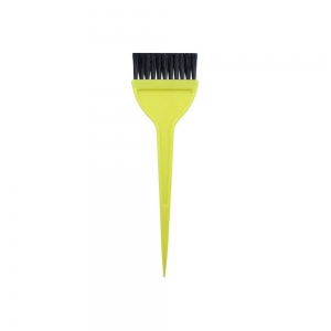 Кисть для окраски волос 55мм, желтая 302003