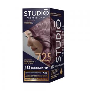 Стойкая краска для волос Темное розовое золото 7.25