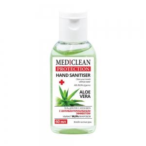Гель для ухода за кожей рук Mediclean Protection Aloe Vera с антибактериальным эффектом, 60мл