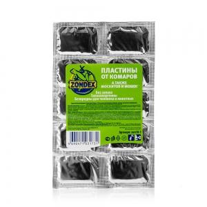 Пластины для фумигатора от комаров, москитов и мошек без запаха (10шт)