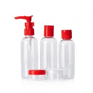 Набор дорожных флаконов (5шт) пластик 100, 100, 80, 10, 10мл + апплик.д/крема