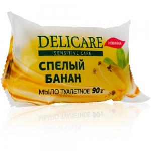 """Мыло туалетное глицериновое  Delicare """"Спелый банан"""", 90г"""