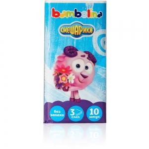 Платочки бумажные Bambolina Смешарики 3-слойные (10шт)