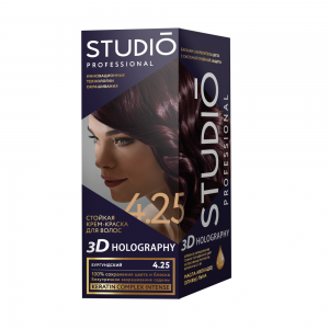 Стойкая краска для волос Бургундский 4.25