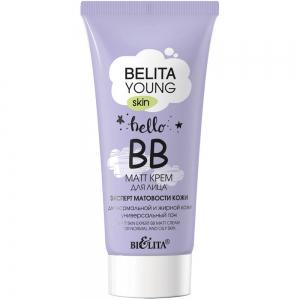 """Belita Young Skin BB-matt крем для лица """"Эксперт матовости кожи"""" для нормальной и жирной кожи, 30мл тб"""