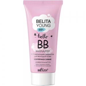 """BELITA YOUNG SKIN BB-хайлайтер для лица """"Безупречное сияние"""" для молодой кожи с тонирующим эффектом, 30мл тб"""