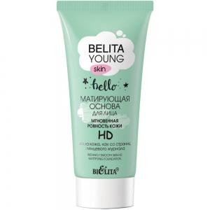 "Belita Young Skin Основа для лица матирующая ""Мгновенная ровность кожи"" HD, 30мл"