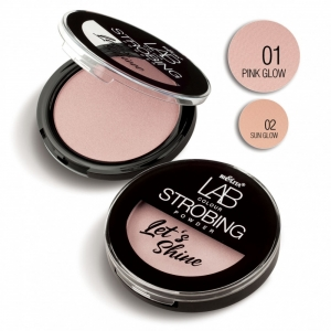 Пудра-стробинг для лица LAB colour Let`s Shine тон 01 pink glow