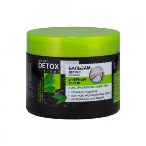 """Detox Therepy Бальзам-Детокс для волос с """"черным углем и экстрактом листьев нима"""", 300мл"""