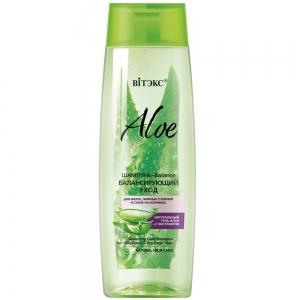 Aloe 97% Шампунь-Balance Балансирующий уход для жирных у корней и сухих на кончиках с 7 экстрактами, 400мл