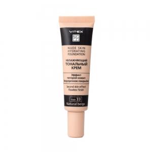 Увлажняющий тональный крем д/лица Vitex Nude Skin Hydrating Foundation тон 33 Natural, 30мл