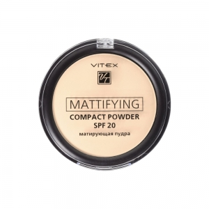 Матирующая пудра для лица Vitex Mattifying compact powder SPF20 тон 02 Natural beige