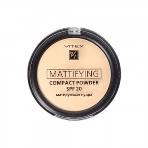 Матирующая пудра для лица Vitex Mattifying compact powder SPF20 тон 04 Sand beige