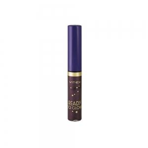 Подводка для глаз Vitex Ready To Color тон 85 Night violet жидкая с блестками, 4,8мл