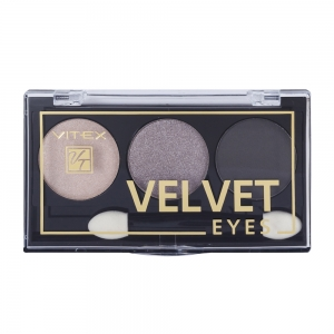 Компактные тени для век Velvet Eyes Vitex тон 01 Smoky eyes