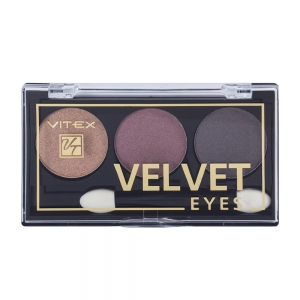 Компактные тени для век Velvet Eyes Vitex тон 03 Burgundy