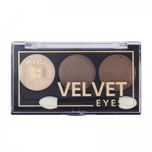 Компактные тени для век Velvet Eyes Vitex тон 04 Brown bronze
