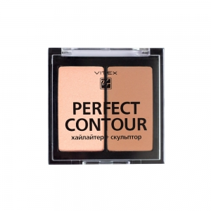 Палетка д/контуринга лица Perfect Contour тон 02 Bronz (хайл.+скульп.)