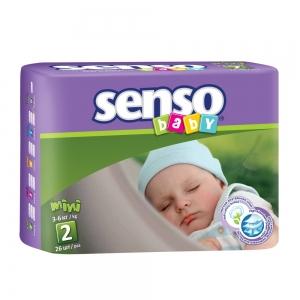 Подгузники для детей Senso Baby mini (3-6кг) с кремом-бальзамом (26шт)