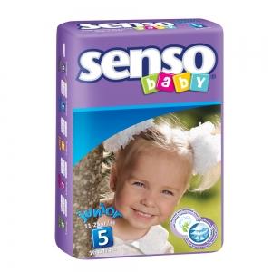 Подгузники для детей Senso Baby junior (11-25кг) с кремом-бальзамом (16шт)
