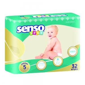Подгузники для детей Senso Baby junior (11-25кг) с кремом-бальзамом (32шт)