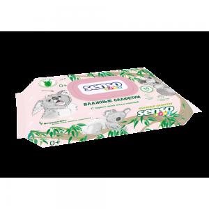 Салфетки влажные Детские КОАЛА с витамином Е, с клапаном, 100 шт