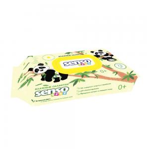 Салфетки влажные Детские ПАНДА с экстрактом ромашки, с клапаном, 72 шт