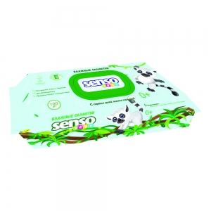 Салфетки влажные Детские ЛЕМУР с витамином Е, с клапаном, 100 шт