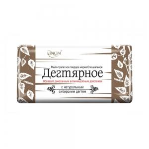 """Туалетное мыло Специальное """"Дегтярное"""", 140гр (флоу-пак)"""