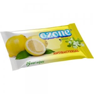 Салфетки влажные 15 шт аромат лимонной свежести Антибактериальные