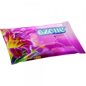 Салфетки влажные 15 шт аромат цветочной свежести Антибактериальные