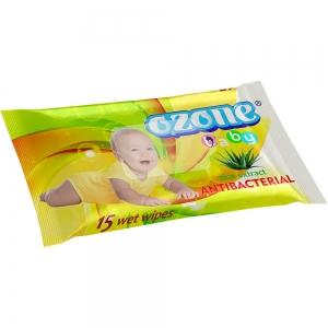 Салфетки влажные Детские 15 шт с экстрактом алоэ